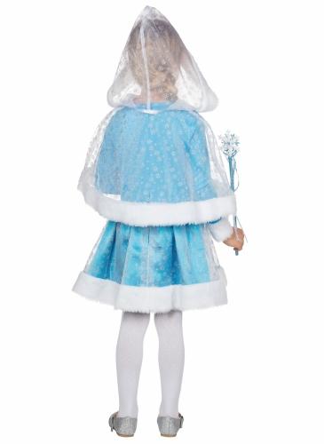 Zauberhafte Eisprinzessin Kinderkostüm für Mädchen Fasching blau-weiss-2