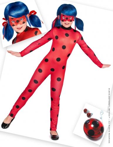 Ladybug-Kostüm-Set für Mädchen Miraculous™ Fasching rot-schwarz-blau