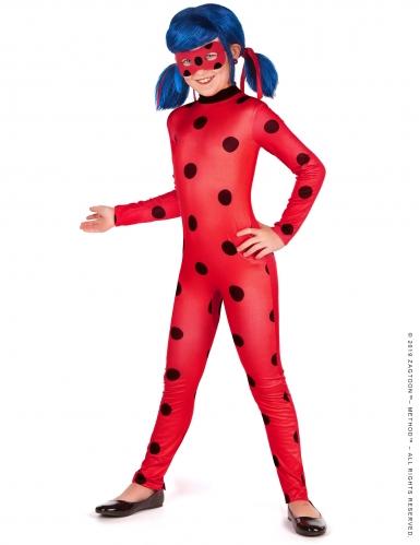 Ladybug-Kostüm-Set für Mädchen Miraculous™ Fasching rot-schwarz-blau-1