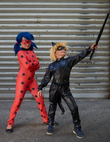 Ladybug-Kostüm-Set für Mädchen Miraculous™ Fasching rot-schwarz-blau-2