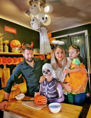 Happy Halloween Partydeko-Set für Halloween orange-schwarz-1