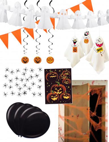 Happy Halloween Partydeko-Set für Halloween orange-schwarz