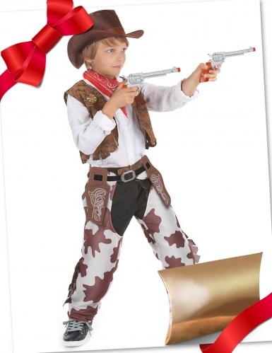 Cowboy-Kostüm Geschenke-Box 4-teilig für Kinder bunt