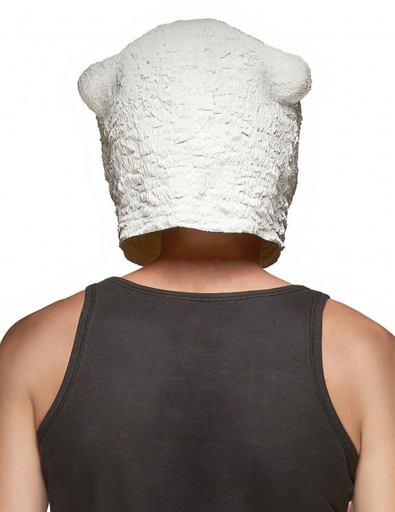 Eisbären Maske für Erwachsene aus Latex: Masken,und