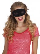 Halbmaske schwarz für Erwachsene