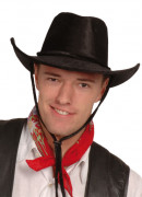 Cowboyhut schwarz für Erwachsene