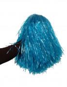 Pompon Fan blau