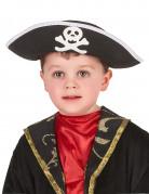 Kinder-Piratenhut für Fasching schwarz-weiss
