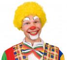 Knallige Afro-Perücke Clown gelb für Erwachsene