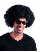 Afro-Perücke Disko schwarz für Erwachsene