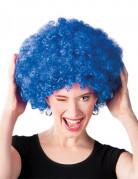 Afro-Perücke Disko blau für Erwachsene