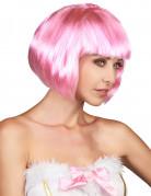 Bob-Damenperücke Pagenkopf mit Pony pink