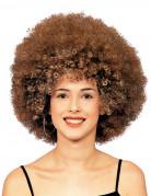 Afro-Perücke Disko braun für Erwachsene