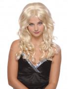 Königliche Langhaar-Perücke für Damen Wellen blond