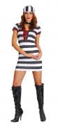 Sexy Gefangenen-Kostüm für Damen
