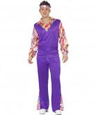 Retro Hippie Kostüm lila für Herren