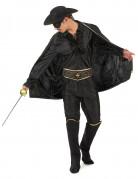 Rächer-Kostüm für Herren schwarz