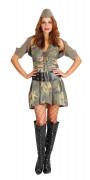 Sexy Soldatinnen-Kostüm für Damen