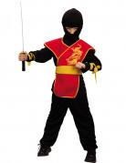 Ninja-Kostüm rot für Jungen