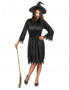 Halloween-Hexenkostüm für Damen schwarz