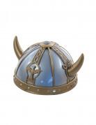 Wikinger-Helm mit Motiven für Erwachsene in grau-gold