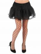 Netz-Strumpfhose für Erwachsene schwarz Halloween