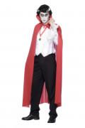 Dracula-Umhang, rot, Halloween, für Erwachsene