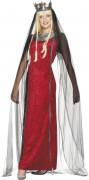 Mittelalterliche-Königinnen-Kostüm für Damen