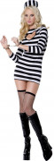 Sexy Sträflings-Kostüm für Damen