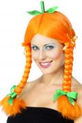 Kürbis-Perücke für Damen Halloween