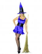 Sexy violettes Hexen-Kostüm Halloween für Damen