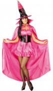 Hexen-Umhang, pink, Halloween, für Damen