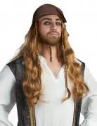 Piraten-Perücke für Herren braun-blond 50cm