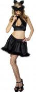 Sexy Schwarze-Katze-Kostüm für Damen