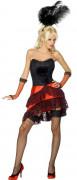 Sexy French Can Can Cabaret-Kostüm für Damen