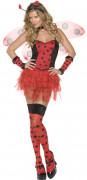 Sexy Marienkäfer Damenkostüm schwarz-rot
