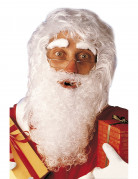 Weihnachtsmanns-Set mit Perücke Bart und Augenbrauen.