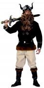 Herren-Wikinger-Kostüm mit Kunstleder-Fransen
