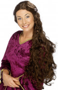 Damen-Perücke mit langem braunem Haar