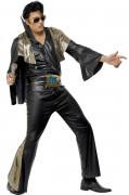 Elvis Presley™- Kostüm für Herren Lizenz schwarz-gold