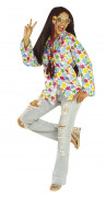 Bunte Hippie-Hemd für Erwachsene