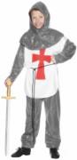 Kostüm eines mittelalterlichen Kreuzritters für Jungen