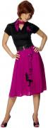 50er Jahre Rock-Kostüm Rosa für Damen
