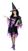 Glamouröses Hexen-Kostüm Halloween für Damen