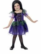 Hexenkostüm mit Spinnenmotiv für Mädchen zu Halloween