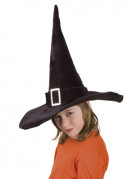 Halloween Hexenhut für Kinder schwarz 52cm