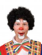 Afro-Perücke Clown schwarz