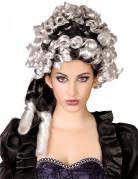 Aristokraten-Perücke für Damen schwarz-weiss
