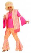 Rosa Hippie-Kostum für Herren