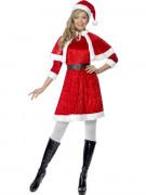 Weihnachtsfrau-Kostüm für Damen rot-weiss